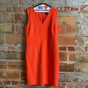Bright orange Ann Taylor work dress